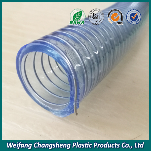 Transparent 6 inch Spiral Steel Wire Reinforced PVC Flexible Hose ...